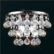 Atla Wall Light in Polished Chrome and Crystal, Switched - DIYAS IL30014
